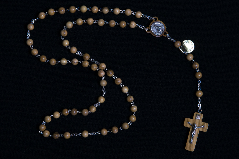 Arrel Ancona rosario legno ulivo